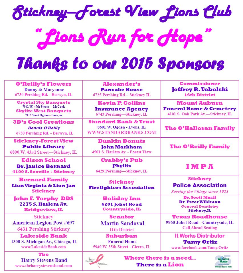 Thank you to our 2015 Event Sponsors